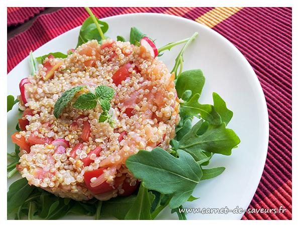 Taboulé de quinoa au saumon fumé