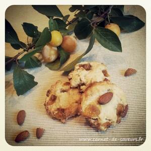 Cookies amandes et mirabelles