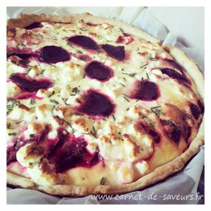 Quiche betterave feta