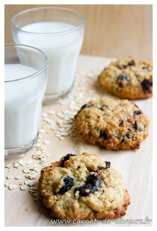 Cookies cranberries et flocons d'avoine