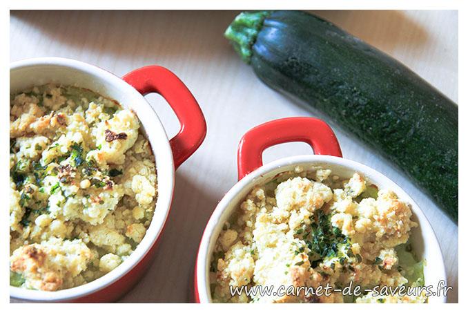 Crumble aux courgettes et boursin carnet de saveurs - Courgette boursin cuisine ...