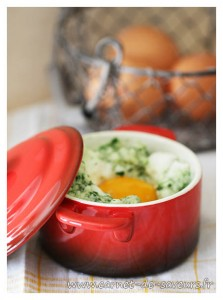 oeuf cocotte roquette