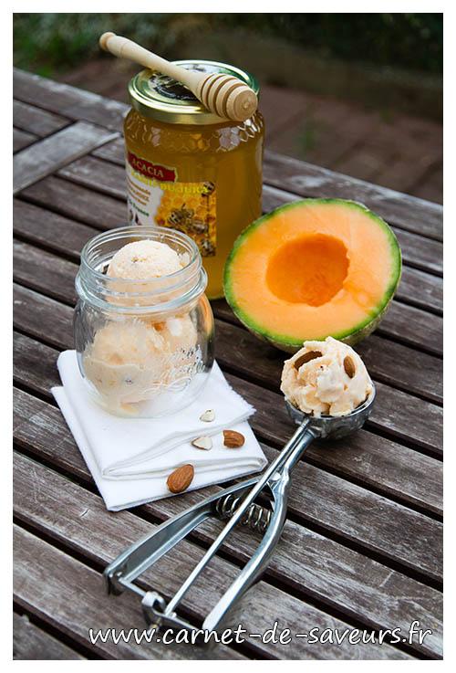Glace au melon carnet de saveurs - Glace au melon avec sorbetiere ...